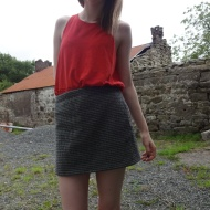 Houndstooth Skirt Shortcut